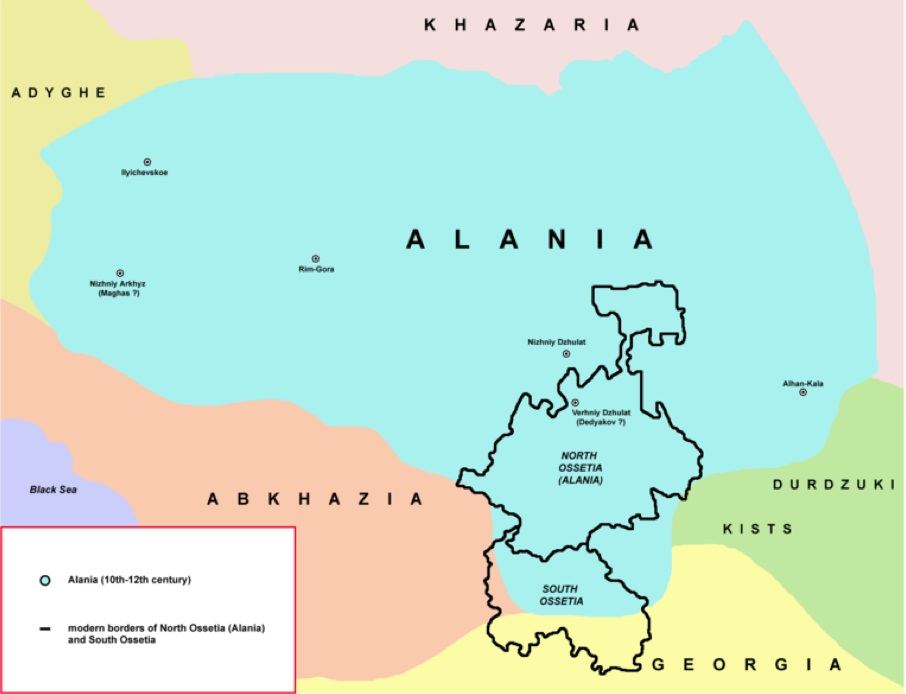 900s-1100s Medieval_Alania_Map